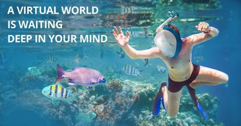 Una empresa española creó el primer casco que simula el buceo en el fondo marino.