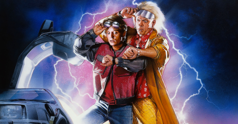 Marty McFly (Michael J. Fox) y el Doc. Emmett Brown (Christopher Lloyd).