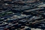 Miles de contenedores de mercancías ubicados en el puerto de Barcelona el 16 de febrero de 2016 AFP / Josep Lago